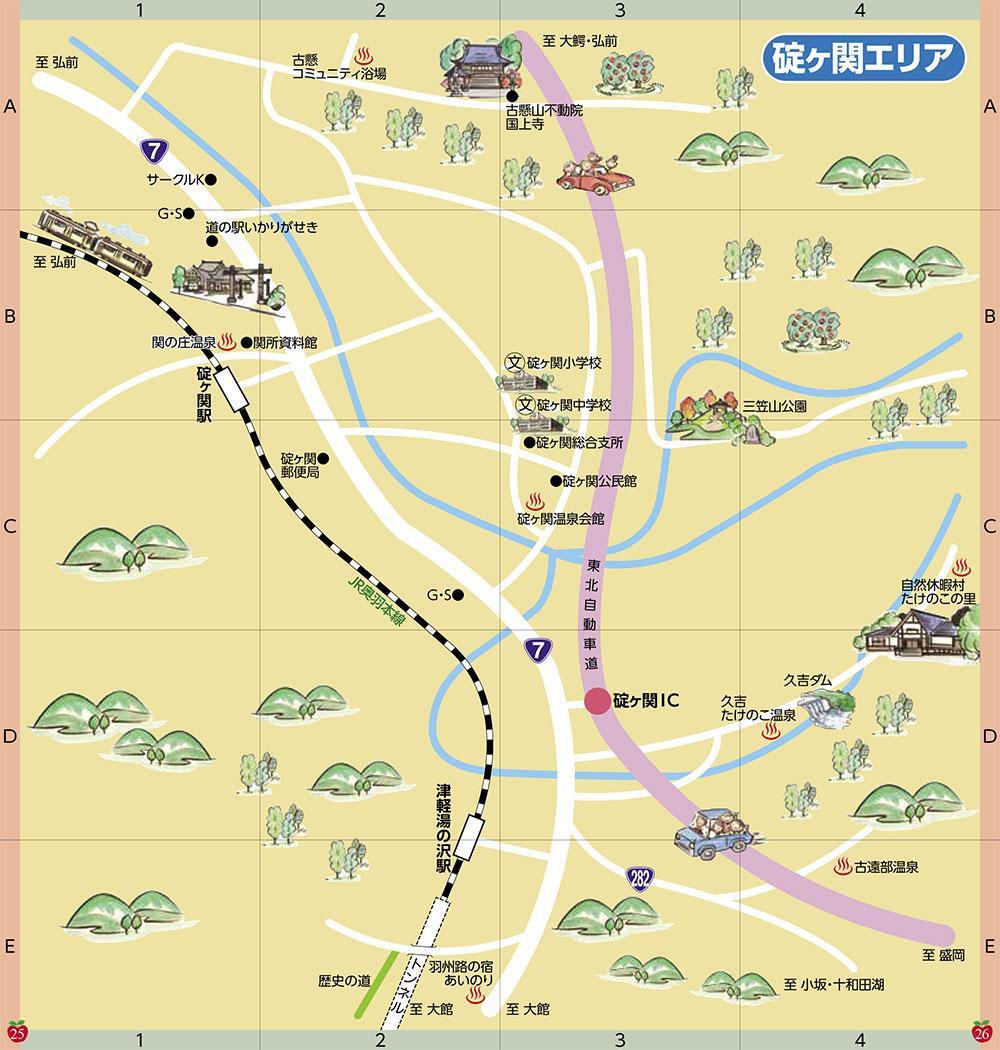 碇ヶ関エリアマップ